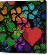 Heart In Flowers Canvas Print
