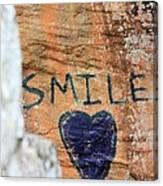 Heart In Sandstone Mountain Canvas Print