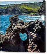 Heart In The Rock Canvas Print
