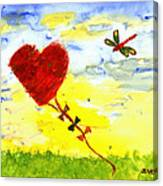 Heart Kite Canvas Print