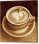 Heart Latte II Canvas Print