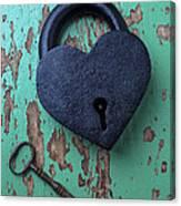 Heart Lock And Key Canvas Print
