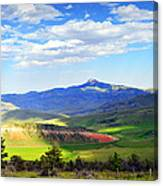 Heart Mtn And Chief Joseph Hwy Canvas Print