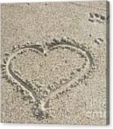 Heart Of Sand Canvas Print