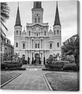 Heart Of The French Quarter Monochrome Canvas Print