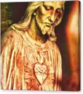 Heart Of The Savior Canvas Print