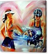 Heart Of The Triathlete Canvas Print