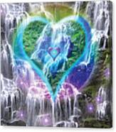 Heart Of Waterfalls Canvas Print