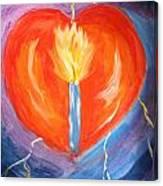 Heart On Fire Canvas Print