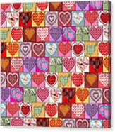 Heart Patches Canvas Print