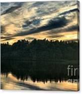 Heart Pond Sunset Canvas Print