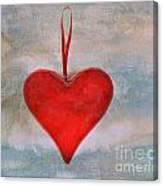 Heart Shape Textured Canvas Print