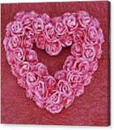 Heart-shaped Floral Arrangement Canvas Print