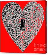 Heart Shaped Lock - Red Canvas Print