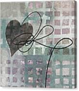 Heart String Abstract- Art  Canvas Print