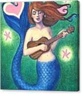 Heart Tail Mermaid Canvas Print
