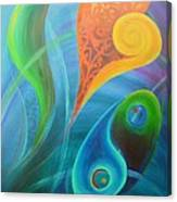 Heart Yin Yang Canvas Print