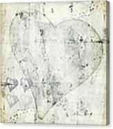 Hearts 13 Square Canvas Print