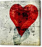 Hearts 3 Square Canvas Print