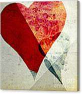 Hearts 6 Square Canvas Print