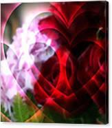 Hearts A Fire Canvas Print