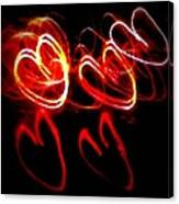 Hearts In Color Canvas Print