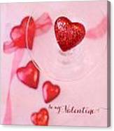 Hearts In Glass - Be My Valentine Canvas Print