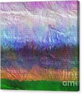 Heaven And Earth Mixed Media Painting Canvas Print