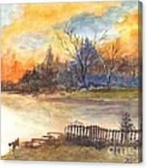 The Serene Sunset Canvas Print