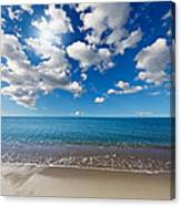Heavenly Beach Under The Blue Sky Canvas Print