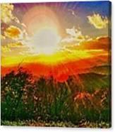 Heavenly Light. North Carolina Blue Ridge Canvas Print