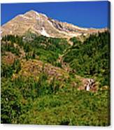 Heavens Peak Glacier International Peace Park Canvas Print