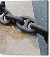 Heavy Duty Anchor Chain Canvas Print