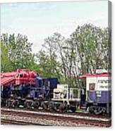 Heavy Lift 1m Pound Capacity Schnabel Train Set By Emmert International Canvas Print