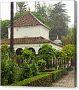Heavy Rain In Alcazar Gardens Canvas Print