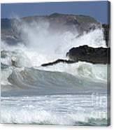Heavy Surf Action Fernando De Noronha Brazil 1 Canvas Print