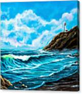Heceta Head Lighthouse Oregon Coast Original Painting Forsale Canvas Print
