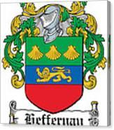 Heffernan Coat Of Arms Irish Canvas Print