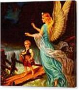 Heiliger Schutzengel  Guardian Angel 11 Oil Canvas Print