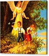 Heiliger Schutzengel Guardian Angel 8 Oil Canvas Print