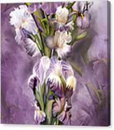 Heirloom Iris In Iris Vase Canvas Print