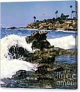 Heisler Park Waves Laguna Canvas Print