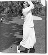 Helen Hicks Playing Golf Canvas Print