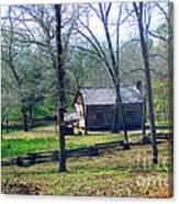 Helen Lee's Pioneer Log Cabin Canvas Print