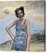 Helen Of Troy Vs Sputnik Canvas Print