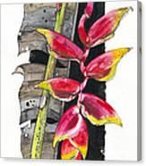 Heliconia 03 Elena Yakubovich Canvas Print