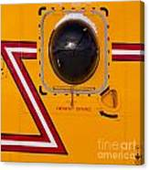 Helicopter Porthole Window Mirrors Rotor Blade Canvas Print