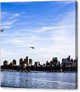 Helicopter Tour Of Nyc Canvas Print