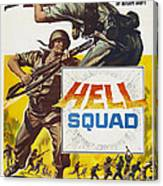 Hell Squad, Poster Art, 1958 Canvas Print