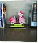 Hello Kitty Car Canvas Print